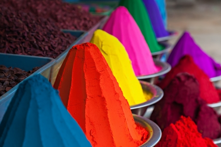 Color powder on the indian market, India Stock Photo - 22100908