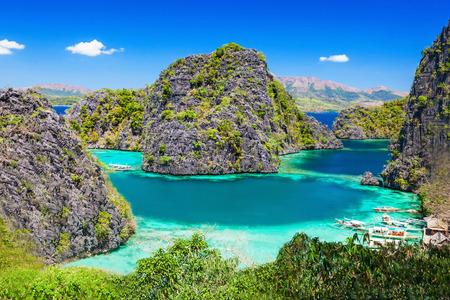 Very beautyful lagoon in the islands, Philippines photo