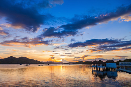 coron: Amazing sunset at the sea, Coron, Philippines