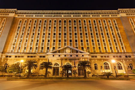 philippino: MANILA, PHILIPPINES - MARCH 16: Palacio del Gobernador in Intramuros on March, 16, 2013, Manila, Philippines. Intramuros is a one of the most popular tourist destination in Manila.