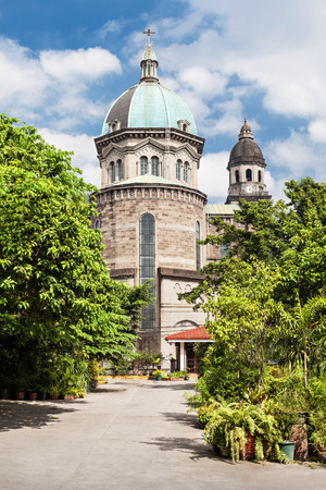 spaniards: Manila Cathedral at day, Intramuros, Manila, Philippines Stock Photo