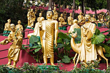 HONG KONG, CHINA - MARCH 19: Statues at Ten Thousand Buddhas Monastery in Hong Kong on March, 19, 2013, Hong Kong, China. Its one of the most popular tourist destination in Hong Kong