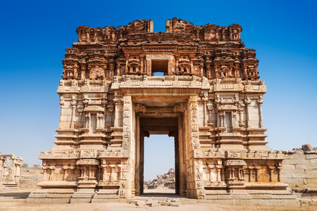 Vijayanagara hindu temple and ruins, Hampi, India photo