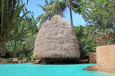 Bungalow near swimming pool photo