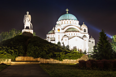 The Cathedral of Saint Sava - is the largest Orthodox church in the world photo