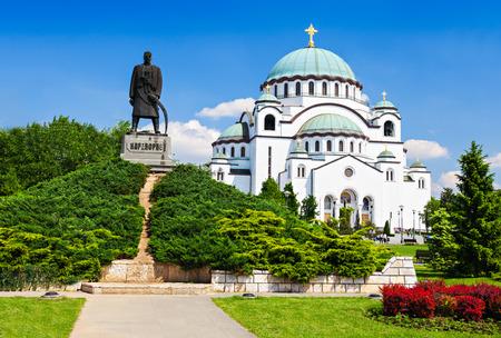 성 사바 성당 및 Karadjordje (세르비아 정치 지도자) 동상, 베오그라드