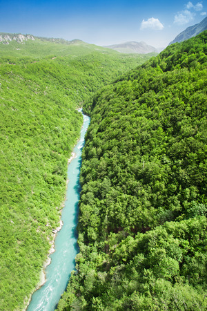Tara River, view from the bridge, north Montenegro photo