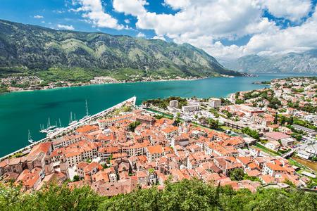 Panorama view to Kotor bay in Montenegro photo