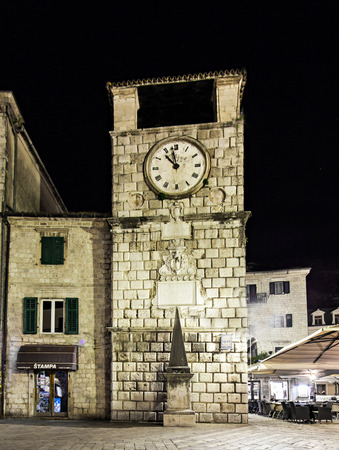KOTOR, MONTENEGRO - MAY 21: Clock Tower inside Stari Grad on May, 21, 2013, Kotor, Montenegro.
