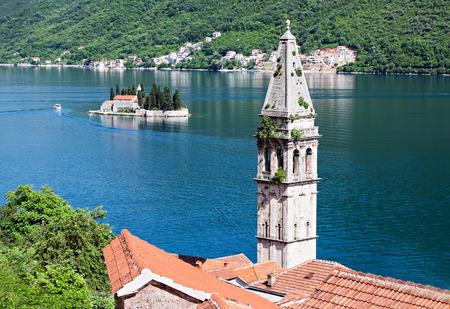 Saint Nikola Church in Perast, Kotor harbor, Montenegro photo