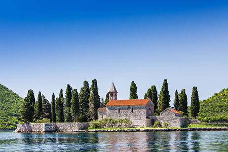 the church of our lady: St. George Church on the island, Perast, Montenegro