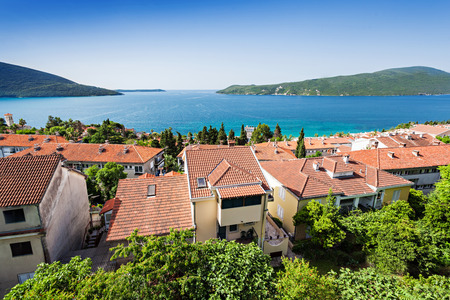 Houses near the sea in Herceg Novi, Montenegro photo