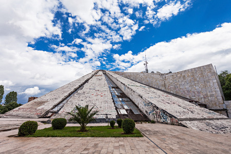 dictator: The Pyramid in Tirana was built by communist dictator Enver Hoxha Editorial