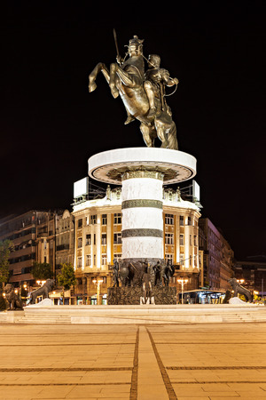 Warrior on a Horse statue (Alexander the Great), Skopje photo