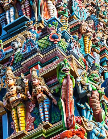Detail of Meenakshi Temple in Madurai, India photo