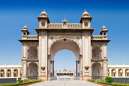 monument in india: Amba Vilas Mysore Palace in Mysore, India Editorial