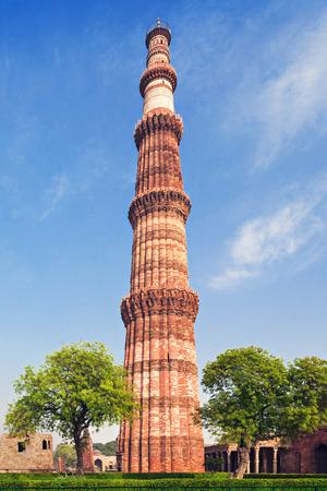 Qutub Minar Tower in New Delhi, India Stock Photo