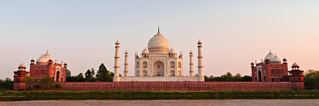 Taj Mahal at the sunset, Agra, India