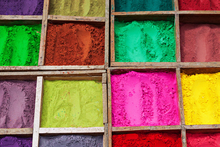 Indian color powder as a beauty background  photo