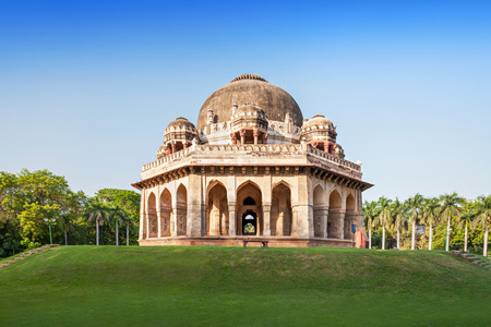 dome of hindu temple: Lodi Gardens - architectural works of the 15th century Sayyid and Lodhis, an Afghan dynasty, New Delhi Stock Photo