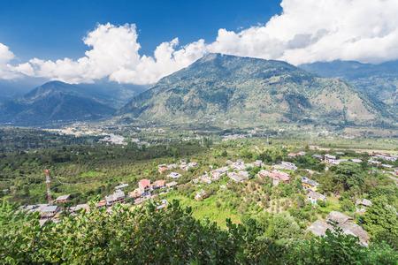 Landscape of Naggar village, Himachal Pradesh, India