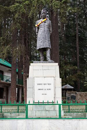 Jawaharlal Nehru statue in the park, India