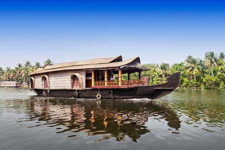 Beauty boat in the backwaters, Kerala, India photo
