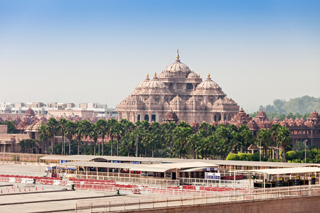 místo: Fasáda chrámu, Akshardham, Delhi, Indie
