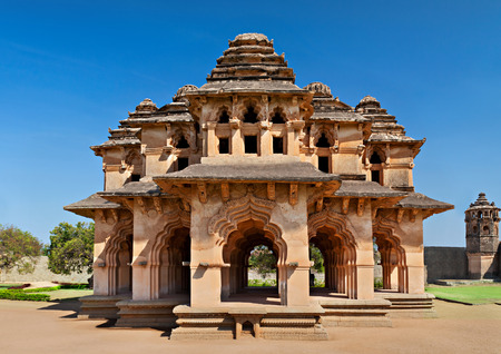 Beautiful Lotus Temple, Hampi, India Stock Photo