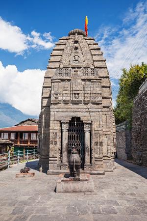 Gauri Shankar Temple in Naggar, Himachal Pradesh, India Stock Photo