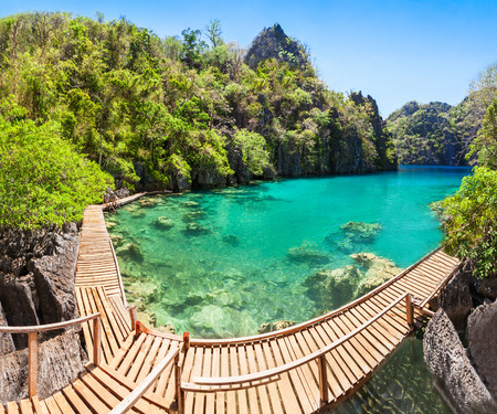 coron: beautiful lake in the islands, Philippines