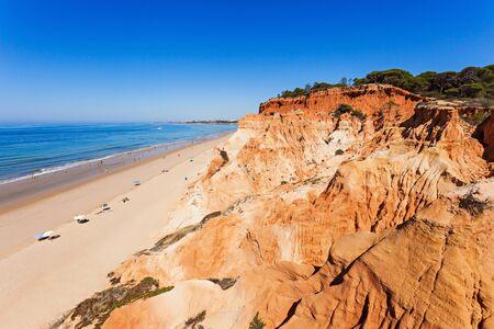 region of algarve: Falesia beach in Albufeira, Algarve region, Portugal