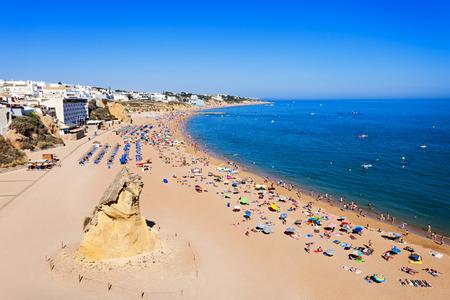 region of algarve: Albufeira city beach, Algarve region, south Portugal Stock Photo