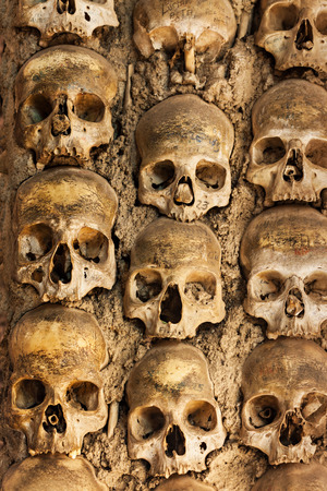 mortal: The Chapel of Bones (Capela dos Ossos) is one of the best known monuments in Evora, Portugal Stock Photo