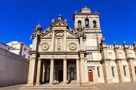 atlantes: Church of Nossa Senhora da Graca (Igreja da Graca) is a church in Portugal. It is classified as a National Monument. Stock Photo