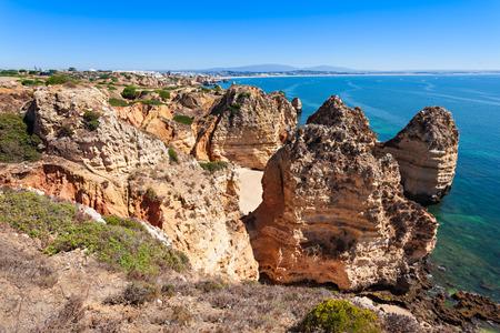 region of algarve: Ponta da Piedade in Lagos, Algarve region in Portugal Stock Photo