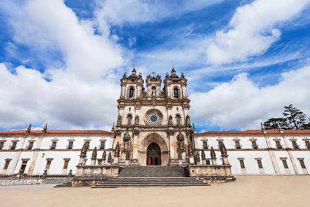 mediaeval: The Alcobaca Monastery is a Mediaeval Roman Catholic Monastery in Alcobaca, Portugal Stock Photo
