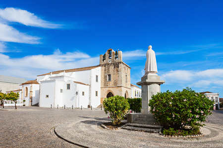 portugal: The Cathedral of Faro (Se de Faro) is a Roman Catholic cathedral in Faro, Portugal Stock Photo