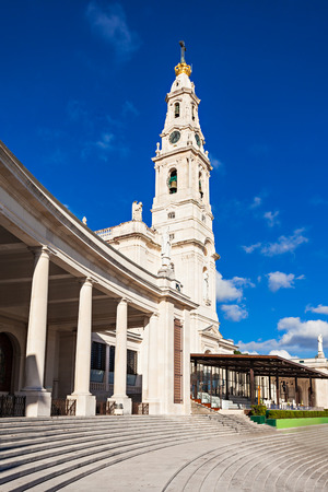 senhora: The Sanctuary of Fatima, which is also known as the Basilica of Our Lady of Fatima, Portugal Stock Photo