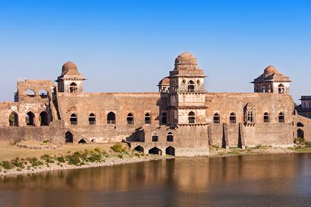 madhya pradesh: Jahaz Mahal (Ship Palace) in Mandu, Madhya Pradesh, India