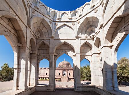madhya: Ashrafi Mahal and Jama Masjid Mosque in Mandu, Madhya Pradesh, India