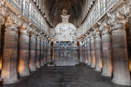 maharashtra: Ajanta caves near Aurangabad, Maharashtra state in India