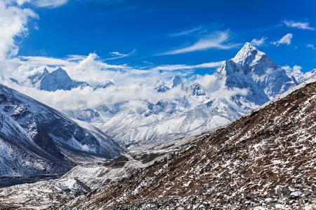 everest: Mountains in Everest region, Himalaya, east Nepal