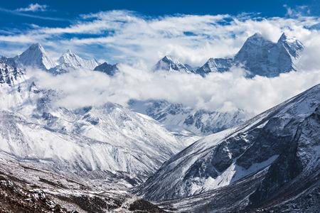 Mountains in Everest region, Himalaya, east Nepal