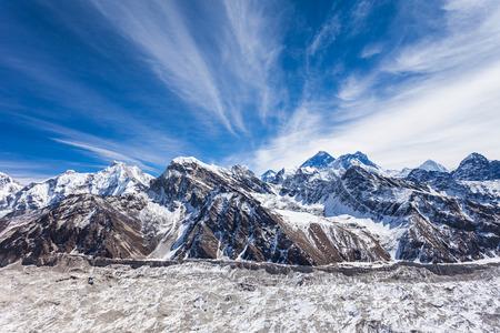 エベレスト、ヌプツェ、ローツェ風景、ヒマラヤ、ネパール
