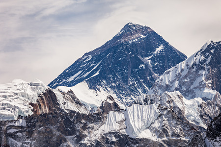 Everest is a highest mountain in the world, Himalaya, Nepal Stock Photo