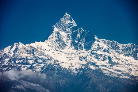 Machhapuchchhre 山 - 英語で魚の尾はアンナプルナ ・ ヒマール、ネパールの山 写真素材