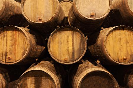 douro: Barrels in the wine cellar, Porto, Portugal