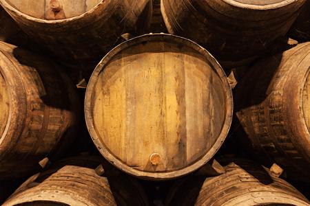 ワインセラー、ポルト、ポルトガルでバレル 写真素材