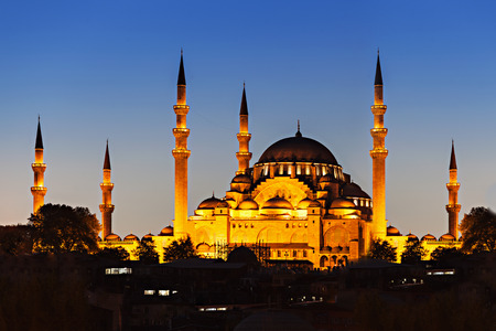 suleymaniye: The Suleymaniye Mosque is an Ottoman imperial mosque in Istanbul, Turkey. It is the largest mosque in the city. Stock Photo